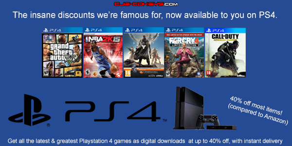 playstation 4 cd keys instant delivery cheap