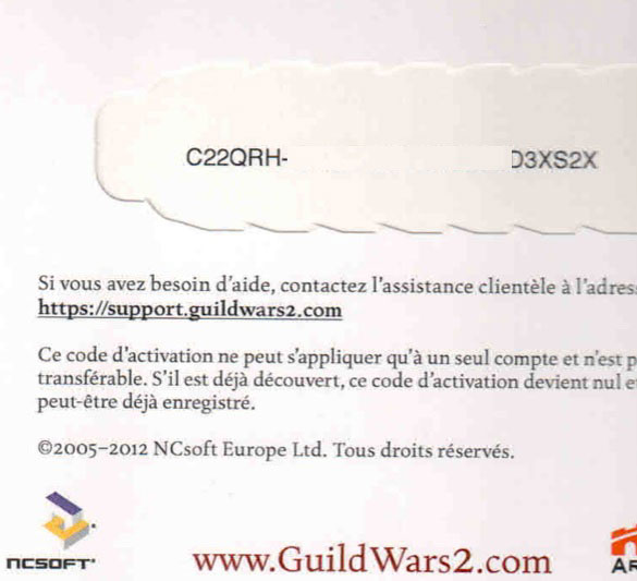 Guild Wars 2 Product Key Code